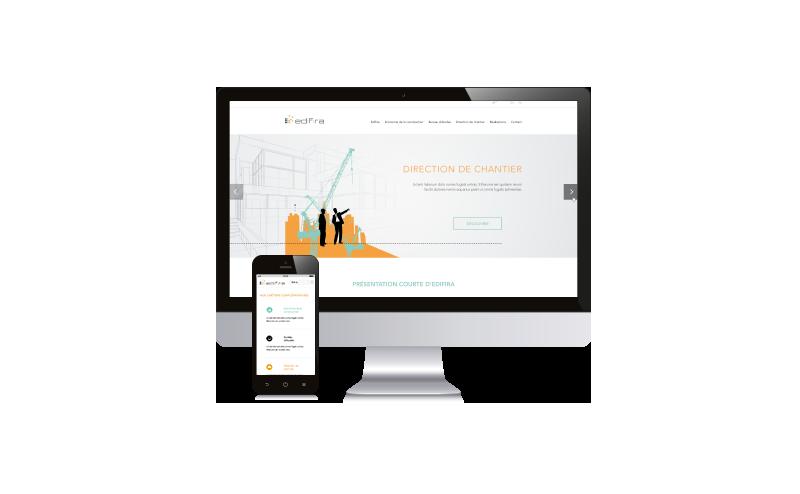 Edifira maquette homepage site internet