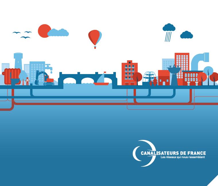 Schémas, graphiques, chiffres clés rapport annuel Canalisateurs de France